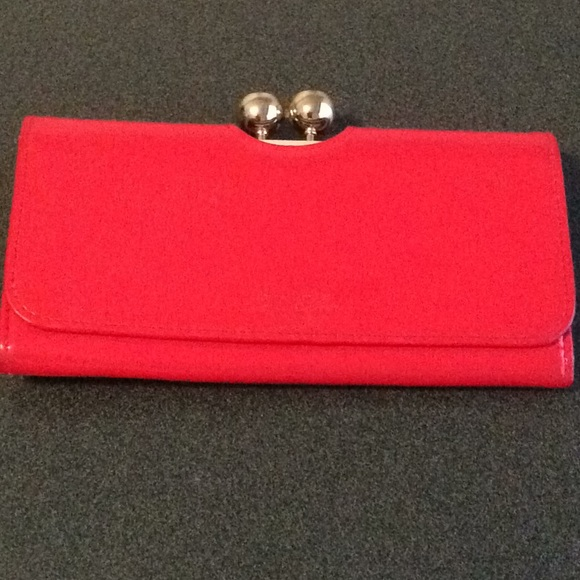 3e8c840f6 Ted Baker jeweled red wallet clutch. M 5a44085a2ae12f2cdb0a0b6f